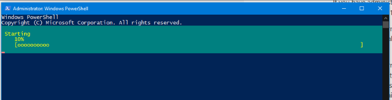 PowerShell in the process of starting one of the VMs on this machine
