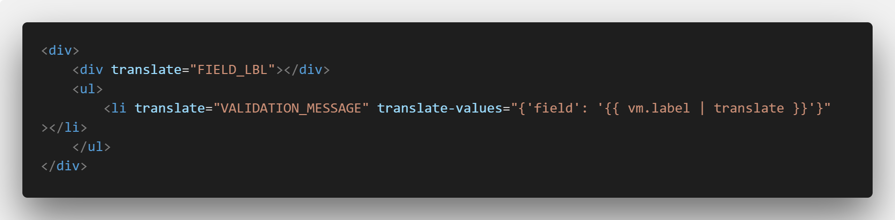 A view that uses angular-translate to plug translated values into another translated string