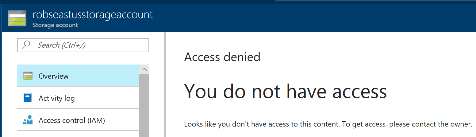 robertwray co uk - Restricting access to Azure resources