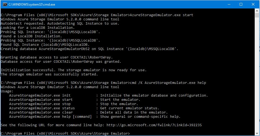robertwray co uk - Using the Azure Storage Emulator