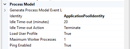 An application pool with 'Load User Profile' set to True