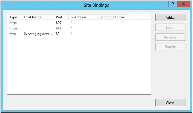 robertwray co uk - Wouldn't it be nice if the IIS Website bindings
