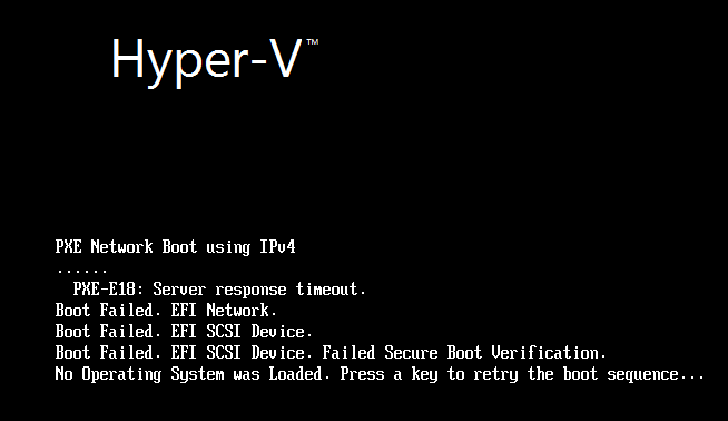 What happens if you try to boot to CentOS with Secure Boot switched on