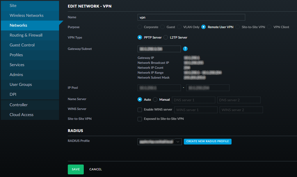 robertwray co uk - Authenticating Ubiquiti UniFi VPN users against a