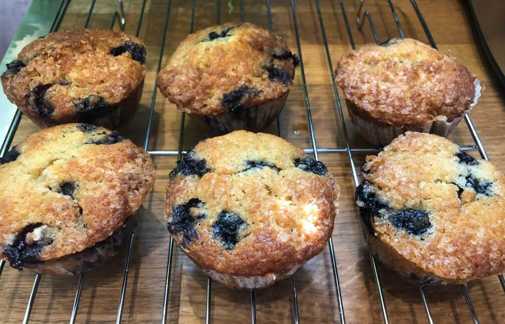 Blueberry and Banana mini-muffins